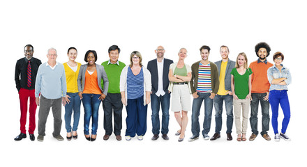 Group of Multiethnic Diverse Colorful People