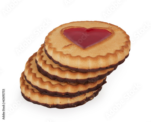 cookies with a heart of jelly
