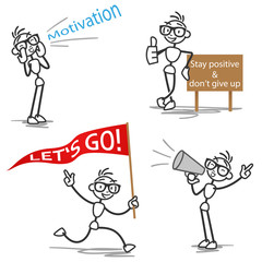 Stickman motivation cheering supporting
