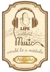 Retro live music poster