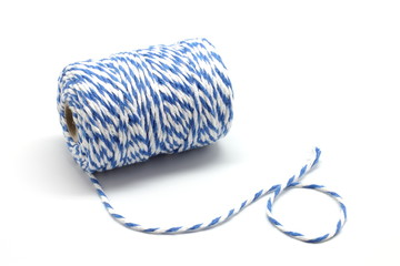 Blue and white cotton string