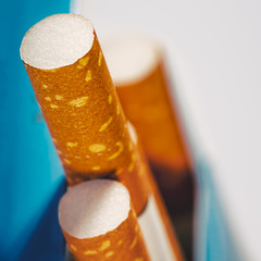 Abstract backgrounds with few cigarettes into the box