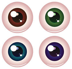 Eye Balls of Different Colors