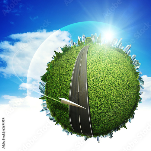 Global eco transportation concept for your design