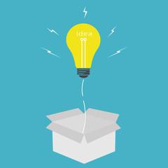 Vector light bulb idea,think outside the box concept