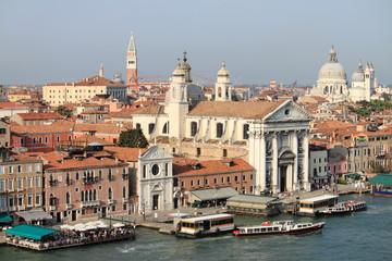 Giudecca channel in Venice, Italy