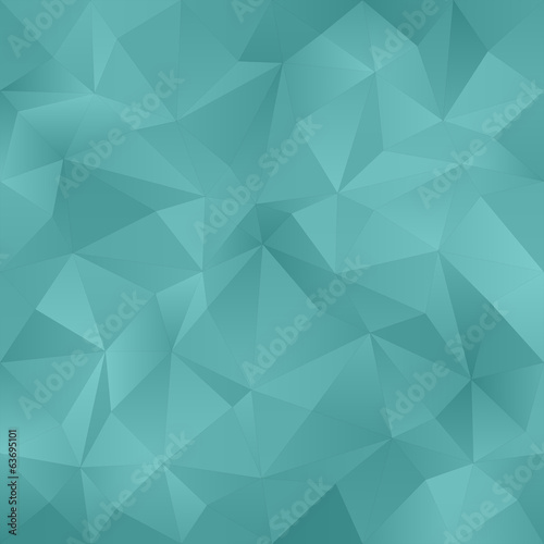 Teal abstract irregular triangle pattern background
