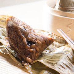 Unwrapped Sticky Glutinous Rice Dumplings