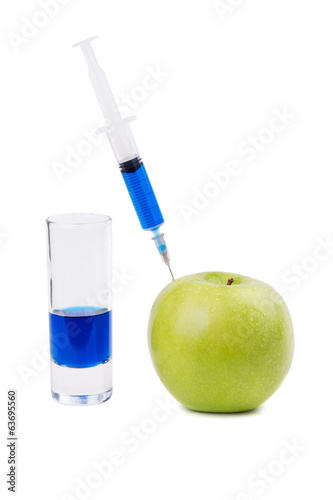 Injection of green apple