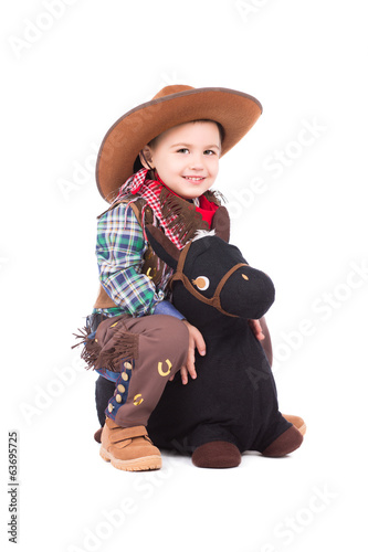 Smiling little cowboy