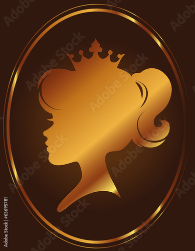 Girl Princess Silhouette On Chocolate Background