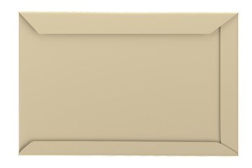realistic 3d render of envelope