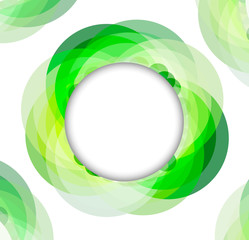 Green geometrical circles frame, vector illustration