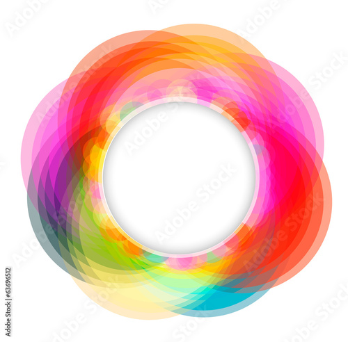 Colorful geometrical circles frame, vector illustration