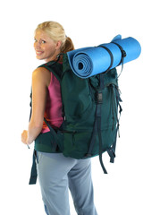 Hiking / Backpaking girl ready for adventure