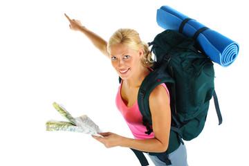 Backpacking girl