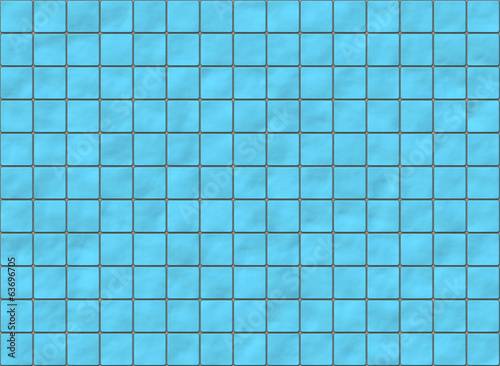 many blue square ceramic tile with rounded corners. pattern text