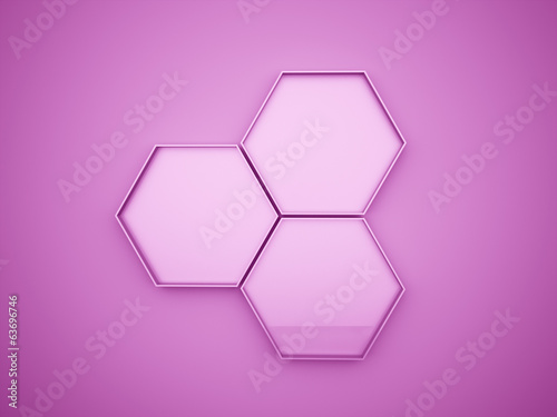 Pink hexagons cell