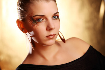 Beautiful woman wearing make-up