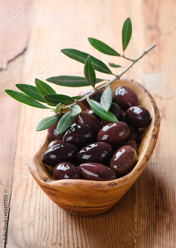 Fresh olives and olive oil