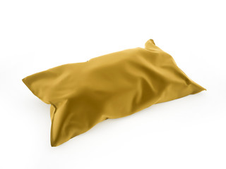 Pillow on yellow