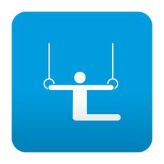 Etiqueta tipo app azul simbolo anillas