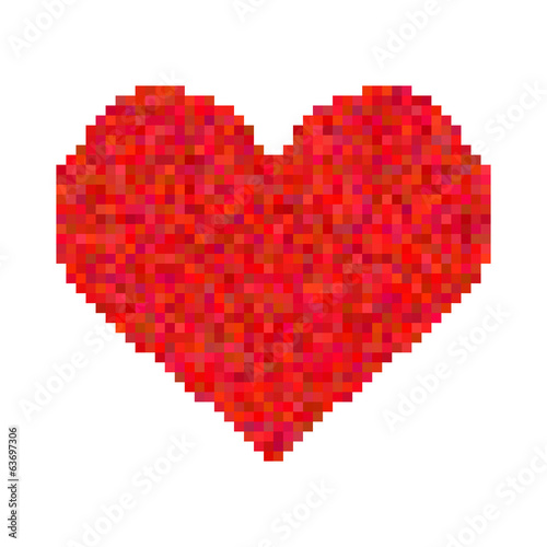 red heart of squares