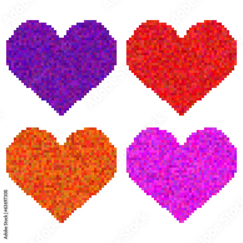 four pixel heart