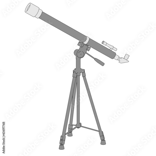 cartoon image of telescope (optical device)
