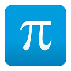 Etiqueta tipo app azul simbolo pi