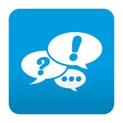 Etiqueta tipo app azul simbolo red social