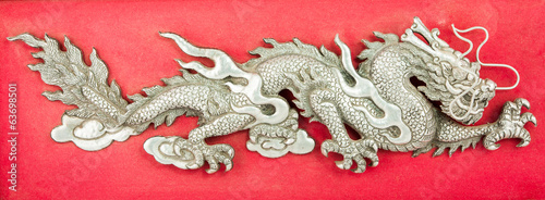 Dragon made ​​of steel plate
