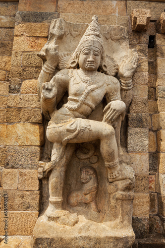 Stone statue of guardian Hindu deity