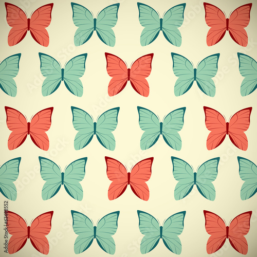 Retro butterflies background for Your design