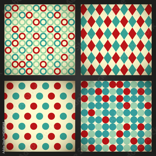 Set of retro abstract background