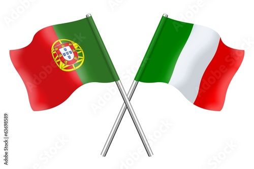 Flags: Portugal and Italy