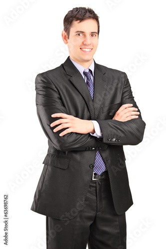 Businessman posing with arms crossed