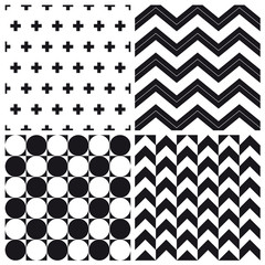 set of geometric pattern background