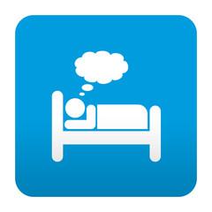 Etiqueta tipo app azul simbolo soñar