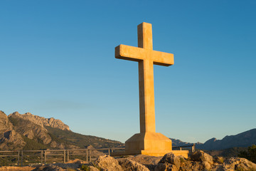Huge stone cross