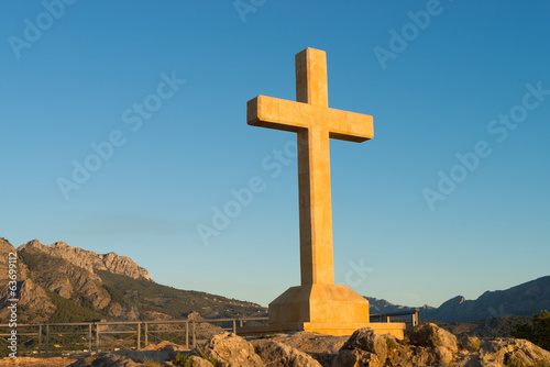 Huge stone cross