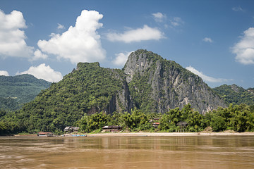 Mekong River At Pak Ou Caves, Laos