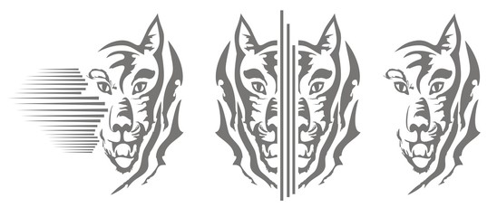 Wolfs heads design