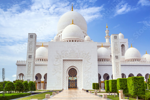 Sheikh Zayed Grand Mosque in Abu Dhabi, the capital city of UAE