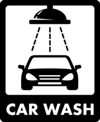 black car wash icon