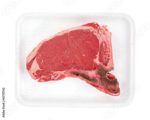 T Bone Steak In Tray