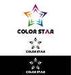 Color star logo template