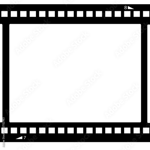 Blank film strip.