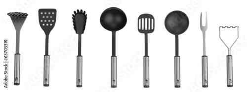 realistic 3d render of utensils
