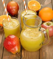 Fresh natural fruit juice